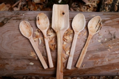 Spoons and spatula birch